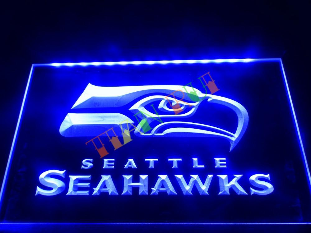 ld242 seattle seahawks bar pub led neon light sign home decor shop crafts