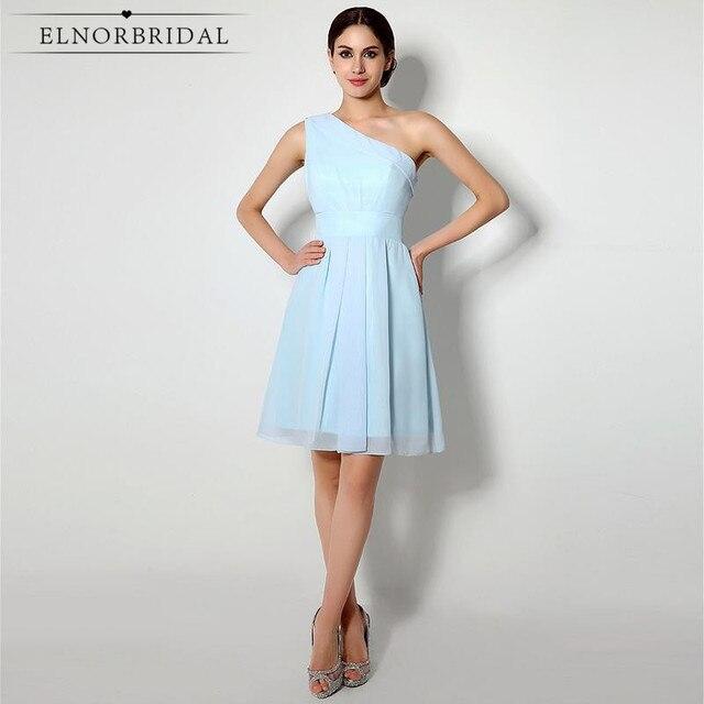 Cheap Short Bridesmaid Dresses 2018 Vestido De Madrinha Longo One ...