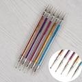 5Pcs/set Double-ended Dotting Pen Liner Pen with Glitter Nail Art Manicure Dot Tool