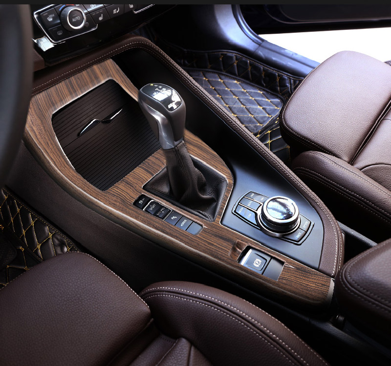 цена на Pine Wood Grain For BMW X1 F48 2016-2018 ABS Center Console Decoration Frame Cover Trim For BMW X2 F47 2018 left hand drive