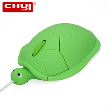 CHYI Wired Mouse Creative Cartoon Turtle Shape Computer Mouse Wired Gaming Mause Cheap Mice for PC Laptop Gift Gold Green Red(China)