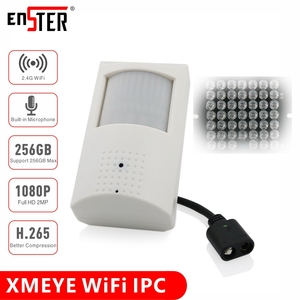 ENSTER H.265 Indoor 2MP WiFi PIR Audio IP Camera Support 256GB TF Card Motion Detection Recording, Invisible IR LED 940nm(China)