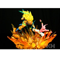 Presale (Delivery Period:60 Day) Super Saiyan Son Goku VS Majin Buu Dragon Ball GK PVC Action Figure Collect Model Toy M475