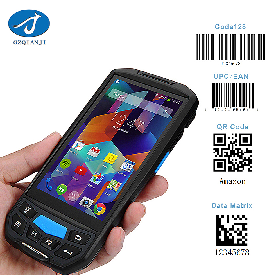GZPDA02 Rugged PDA industrial with 4G/Bluetooth/Wifi/Camera/GPS android handheld barcode scanner android 7.0 handset pdas