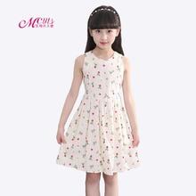 Girls Dress 2019 Girls Summer Dress Children Sleeveless Printed Princess Dress Kids Dresses for Girls 4 5 6 7 8 9 10 11 12 Years недорго, оригинальная цена