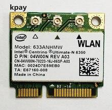 デュアルバンド 450 150mbps のミニハーフ Pci E ワイヤレス無線 Lan カード 633 ANHMW 6300AGN intel 6300 802.11a/g/ n エイサー/Asus/dell のラップトップ