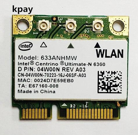 Double bande 450 Mbps Mini carte Wifi sans fil demi PCI e 633 ANHMW 6300AGN pour Intel 6300 802.11a/g/n pour ordinateur portable Acer/Asus/Dell