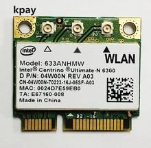 Dual band 450 Mbps Mini Metade PCI e Sem Fio Wi fi Cartão 633 622ANHMW 6300AGN para Intel 6300 802.11a/g/ n para Acer/Asus/Dell laptop