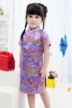 2018 Baby Girl NEW YEAR summer Dresses Kid Chinese Style chi-pao qipao cheongsam gift Clothes