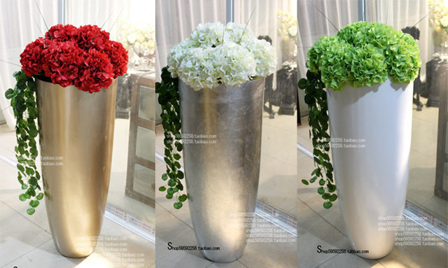 Luxury Silver Large Floor Vase Modern Fashion Set In Vases From Home