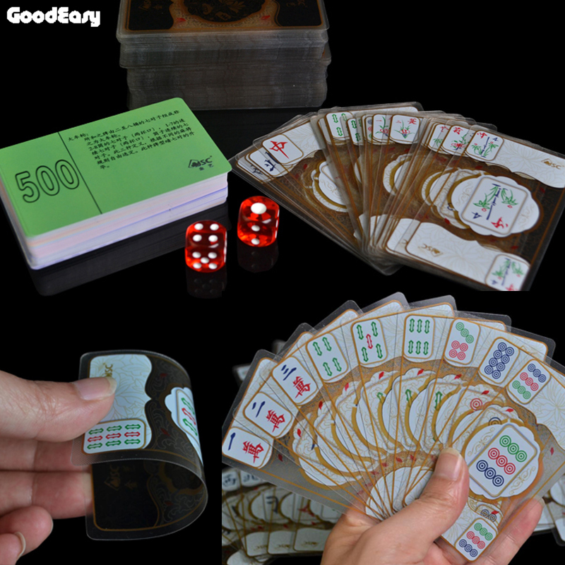Us 21 8 50 Off Waterproof Transparent Crystal Mahjong Playing Cards Chinese Traditional Classic Card Games Board Games Family Table Board Game In