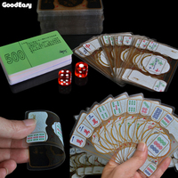 Waterproof Transparent Crystal mahjong playing cards Chinese Traditional Classic Card Games Board Games Family Table Board Game