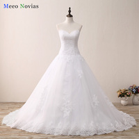 Robe De Mariage New Ball Gown Wedding Dress 2017 Sweetheart Neck Lace Up Back Cheap Tulle