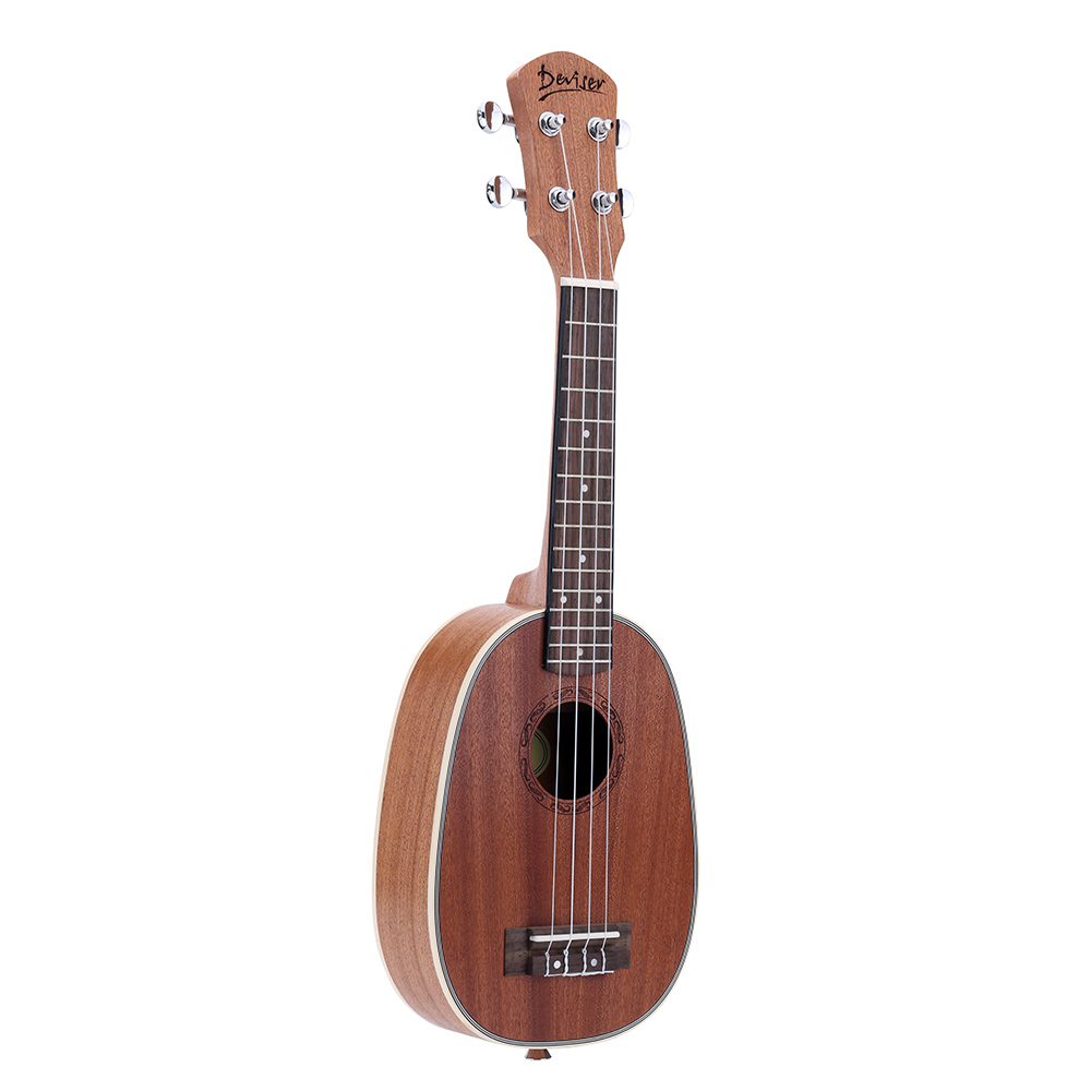 High Quality 21 Pineapple shaped Soprano Ukulele Durable Sapele Ukulele Ukelele Matte 4 Nylon Strings Rosewood