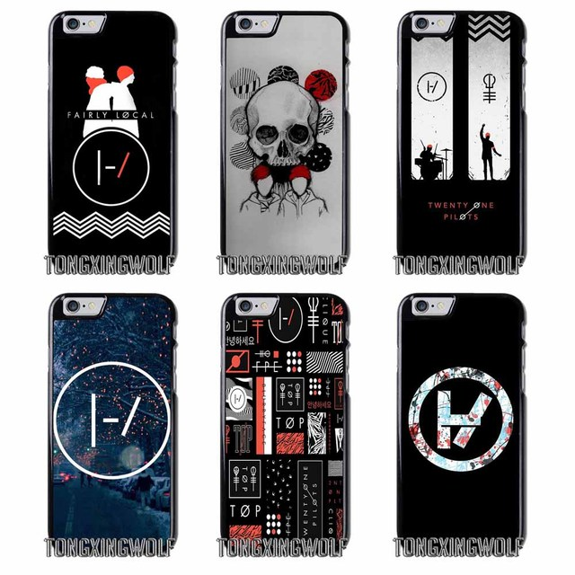 new concept c18de 1d8d5 US $4.99 |21 Twenty One Pilots Cover Case For Iphone 4 4s 5c 5s se 6 6s 7 8  plus x xiaomi redmi note oneplus 3 3T 4X 3s -in Half-wrapped Case from ...
