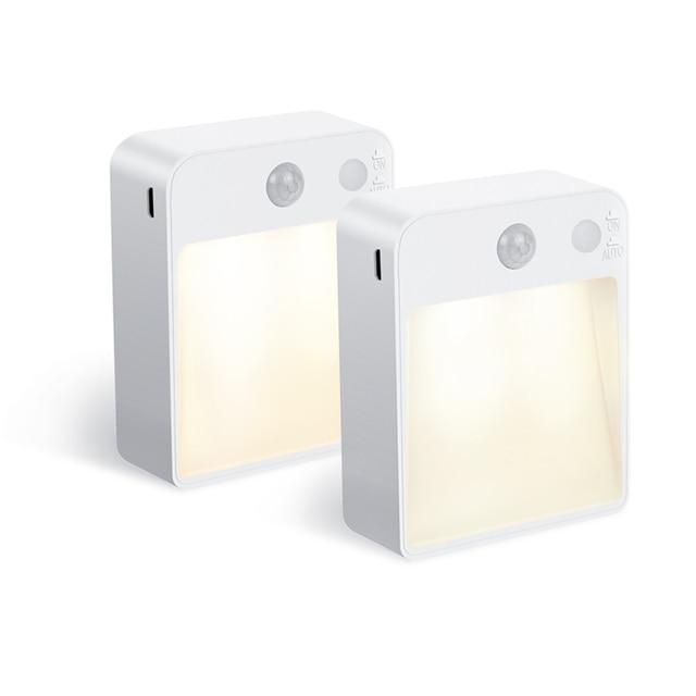 Led ナイトライトランプ Pir モーションセンサーデュアル誘導自動光センサー壁ランパラ USB ポートと子供のためのリビングルームベッドサイド