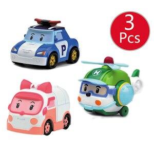 Image 4 - Robocar Poli enfants jouets corée enfants jouets métal voiture modèle Robot Poli Roy Haley Anime figurine jouets voiture pour enfants jouets