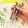 Nueva Llegada de La Novedad Multicolor Bolígrafo Multifunción 6 In1 Colorido Papelería útiles Escolares Creativas
