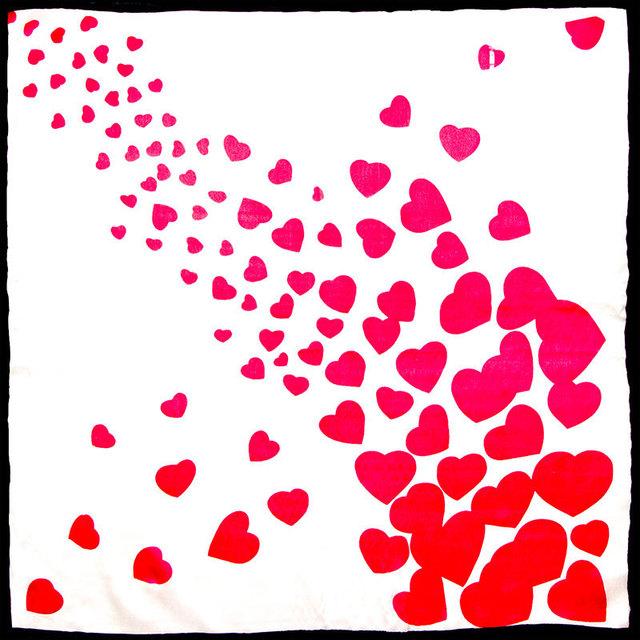 Hearts Hearts Neckerchief | Bandana Scarves