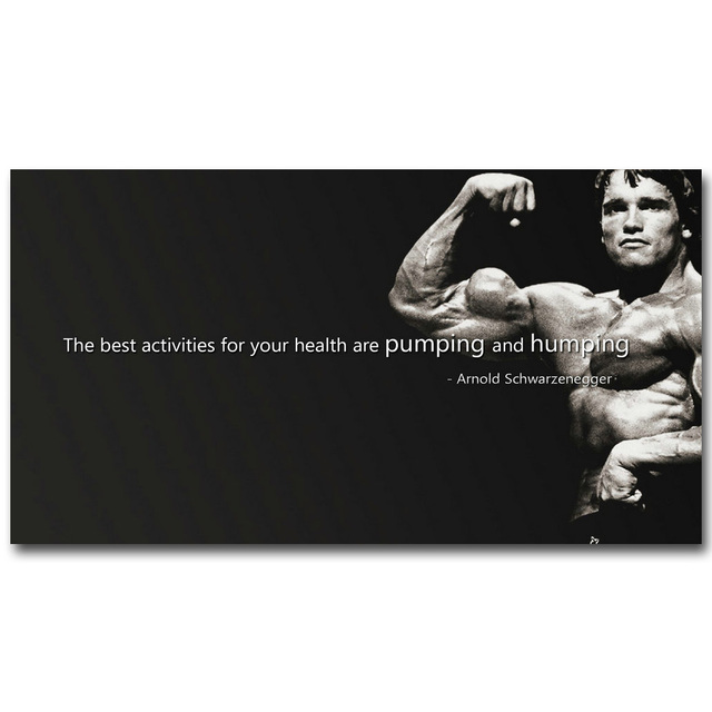 Arnold schwarzenegger bodybuilding motivational quote art silk arnold schwarzenegger bodybuilding motivational quote art silk poster print fitness inspirational picture for room wall decor malvernweather Image collections