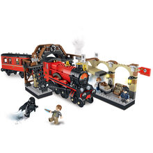 New Lepin 16055 Harry Magic Potter Hogwarts Express Train Blocks Bricks Compatible legoing 75955 Building Model DIY Gift(China)
