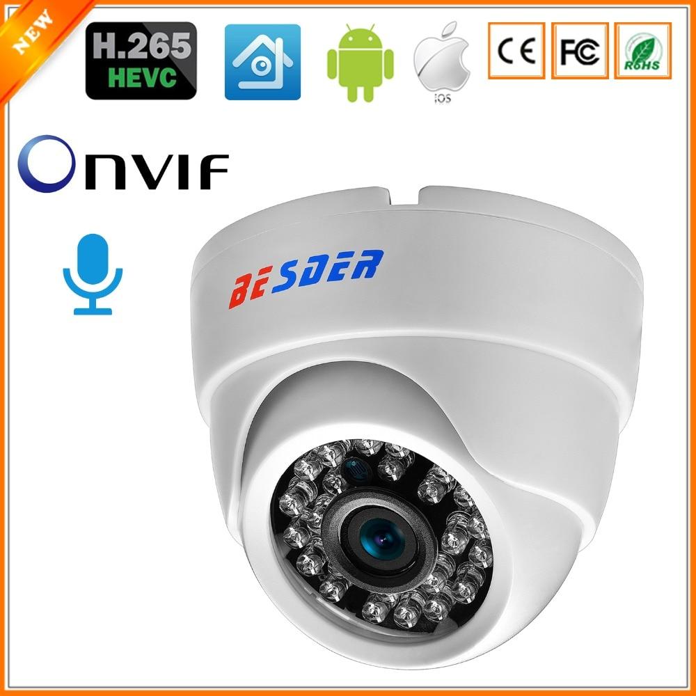 BESDER H 265 HI3516E 1 2 8 SONY IMX307 IP Camera Audio Full HD Indoor IR