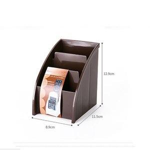 Image 4 - Soporte de plástico para mando a distancia de TV, soporte para teléfono móvil, cajas de almacenaje para oficinas, estuche de almacenamiento para escritorio