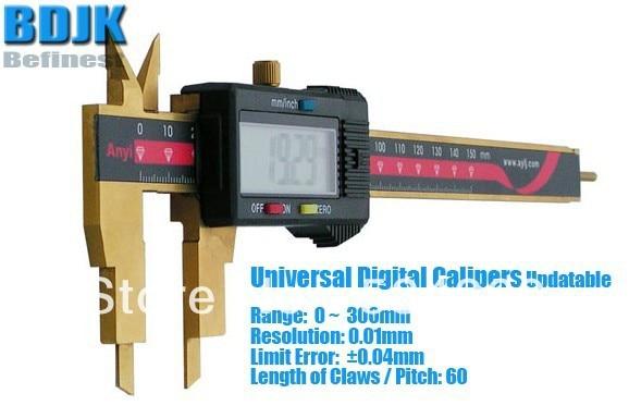 0~300mm Universal Digital Vernier Caliper / Measuring Instrument with 0.04mm Limit Error 0 300mm high precision digital vernier caliper measuring tool instrument with 0 025mm limit error