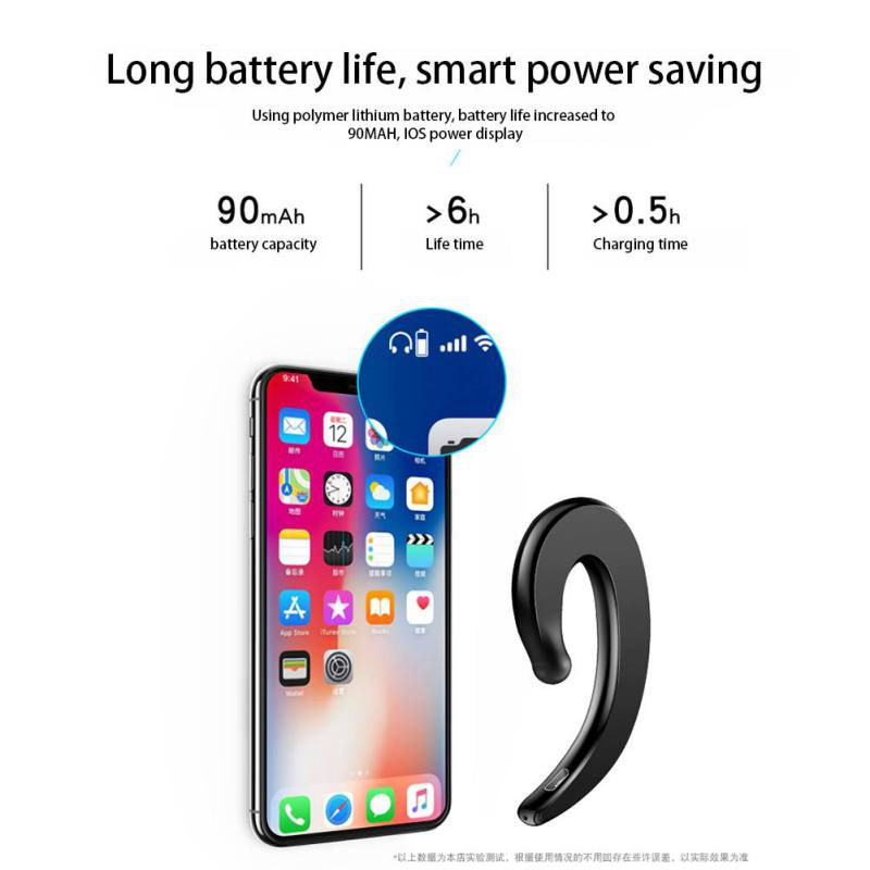 Stereo bluetooth headset Ears hanging Wireless headset The microphone hands free Mini movement fashio business bluetooth headset in Bluetooth Earphones Headphones from Consumer Electronics
