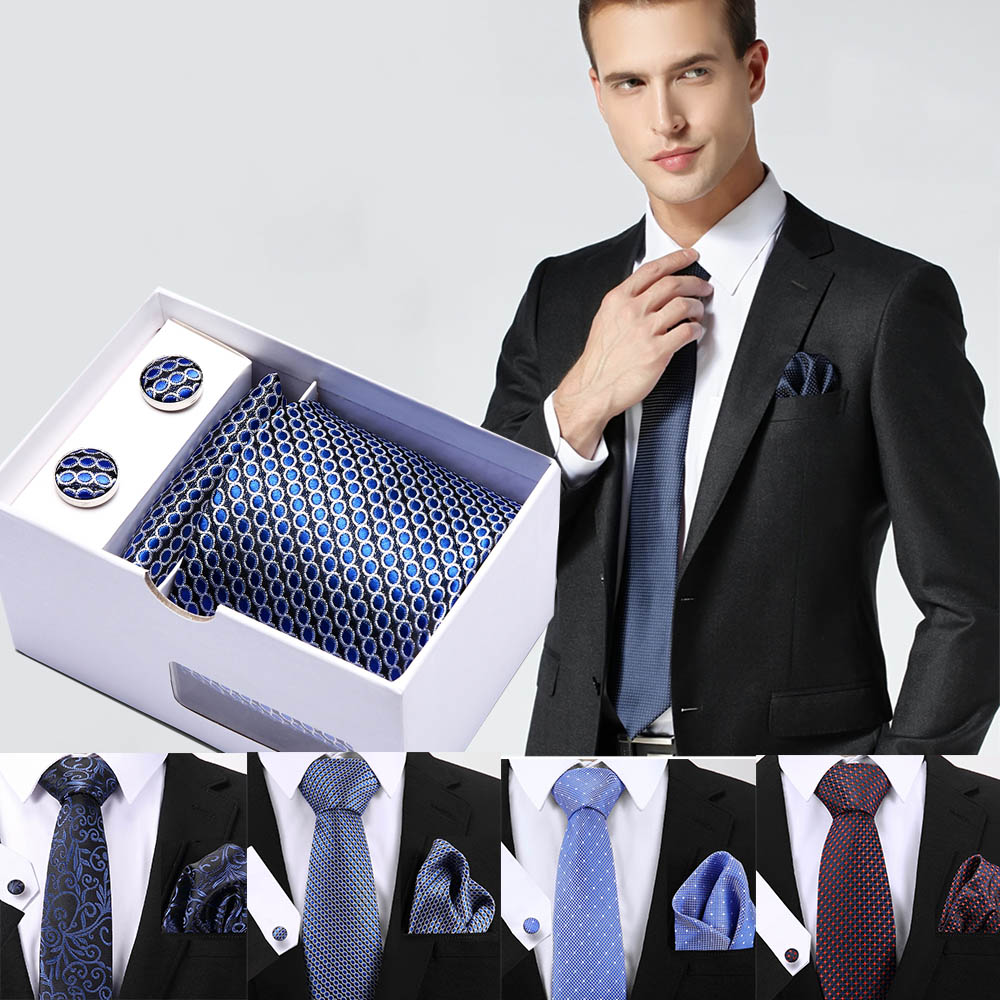 New Paisley men ties set Extra Long Size 145cm 8cm Necktie Solid Blue Silk Jacquard Woven Neck Tie Suit Wedding Party in Men 39 s Ties amp Handkerchiefs from Apparel Accessories