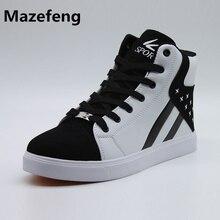 2017 корейская мода высокого Мужская обувь суперзвезды личности Мужская обувь Повседневная дышащая обувь мужская 096 хип-хоп