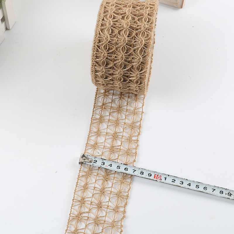 2 м * 7 см паук полые кружева декоративные мешковины ткань Плетение ручной работы DIY подарок шпагат ленты ретро свадьба Рождество украшение дома