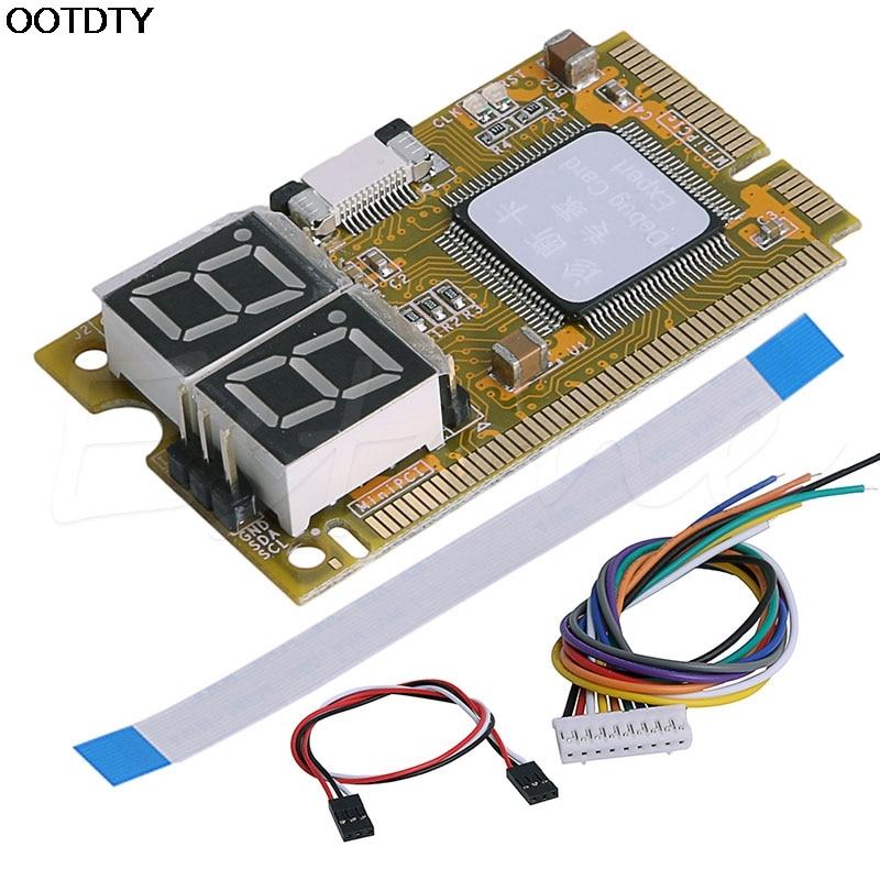 Nueva tarjeta de prueba de 5 en 1 Prueba tarjeta diagnosticar prueba Debug tarjeta postal Karte Mini PCI I2C PCI-E LPC ELPC caliente