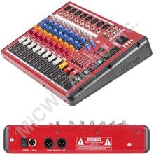 High Quality Pro Radio Bluetooth Microphone dial Digital Effect Mixer Mixing sound console USB MP3 48V DJ Recording Studi 8 CH