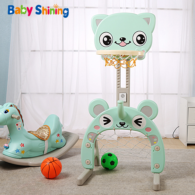 Baby Shining Toy Basketball Hoop Baby Sports Toys Basketball Stands Sports Kids Height Adjustable Kids Goal