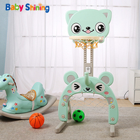 Baby Shining Toy Basketball Hoop Baby Sports Toys Basketball Stands Sports Kids Height Adjustable Kids Goal Hoop Baby Fit