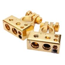 Горячие sale2 х Heavy Duty золотое покрытие автомобиля Батарея Клеммы (положительное/Nagative) 4,8 AWG