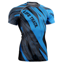 Men's Workout Clothes Full Sleeves Fitness Tees &Tops Short Sleeve Compression Shirts 3D Printing MMA Bodybuilding T-shirts