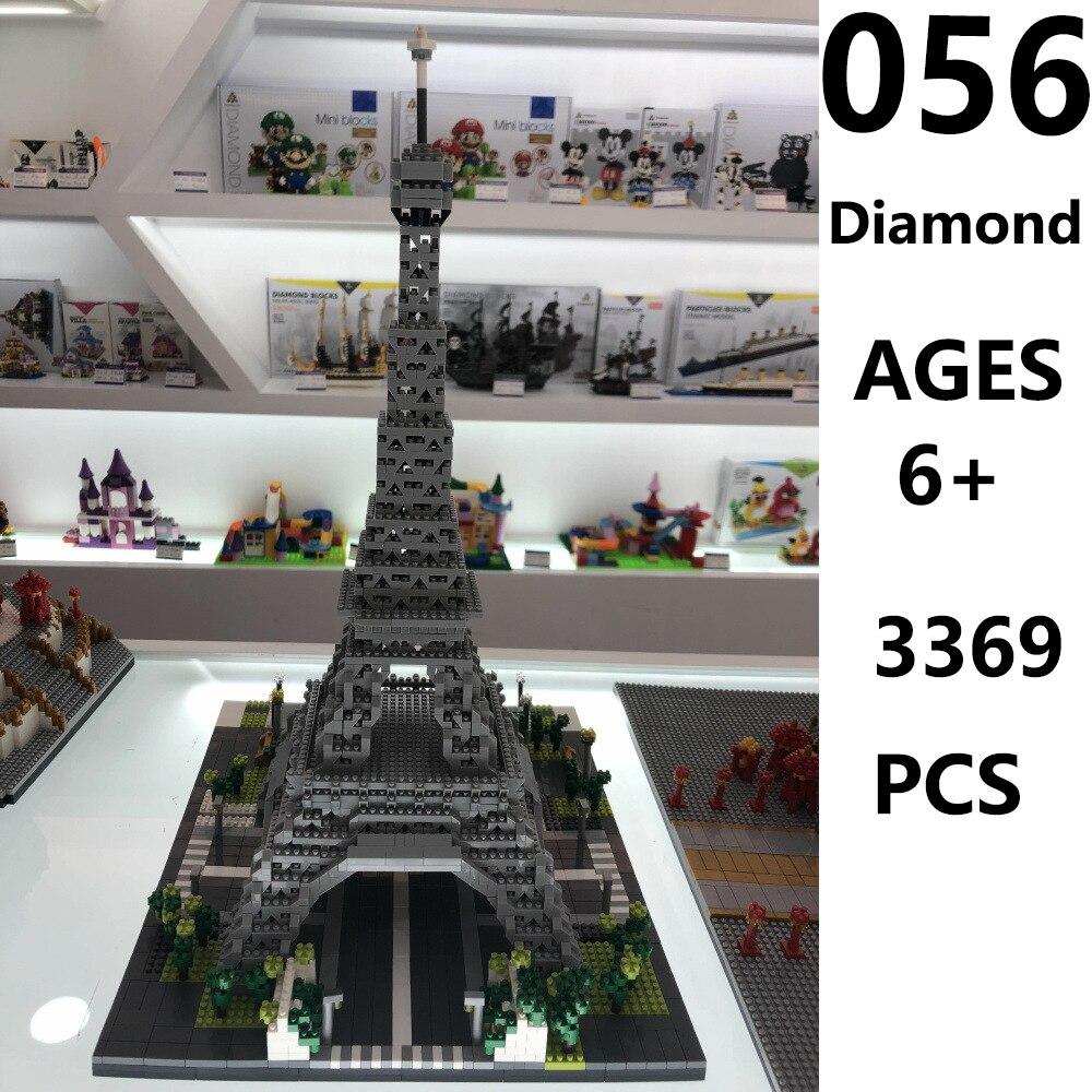 Blocks, Paris, Eiffel, Model, pcs, Architecture