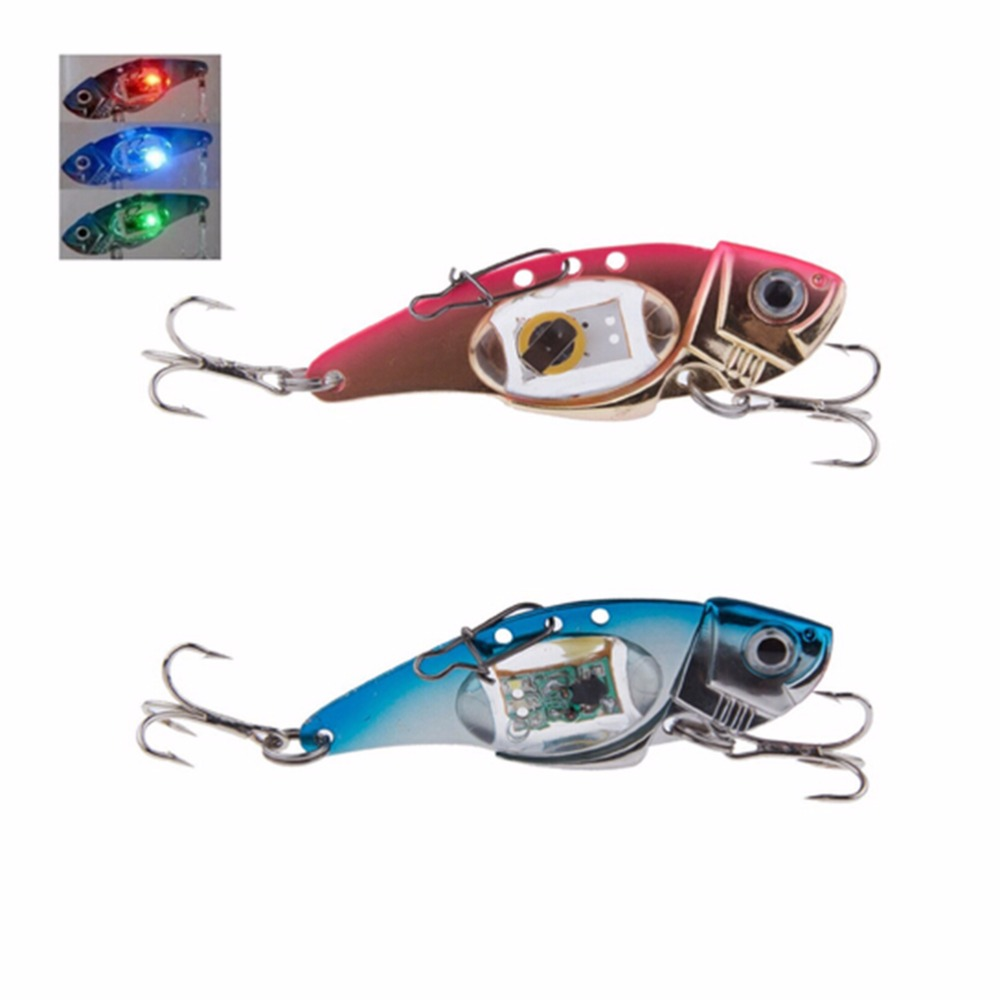 CosCosX Flash LED Light Fishing Lure Treble Hook Electronic Fishing Lamp Bait Tackle Fish Lure Light Flashing Lamp Outdoor Sport