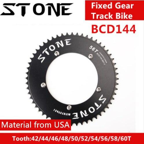 Pietra 144 BCD corona aero pista scatto fisso fixie bike Rotonda 42 t 46 t 48 t 50 t 52 t 54 58 t 60 t mountain MTB ruota di Catena 144bcd