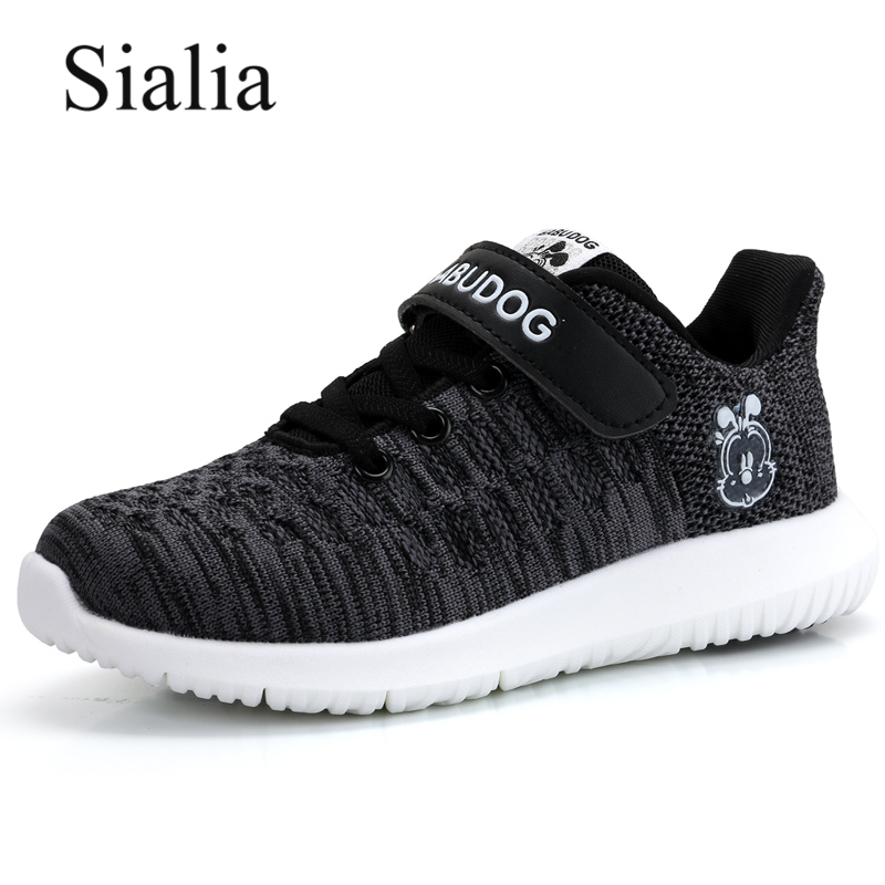Sialia Spring Autumn Children Shoes For Kids Sneakers Girls Boys Shoes Casual Breathable Mesh School krasovki chaussure enfant