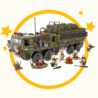 1377pcs Heavy duty truck Military German King Tiger Tank Building Block Compatible Legoingly Army WW2 soldier brick children Toy