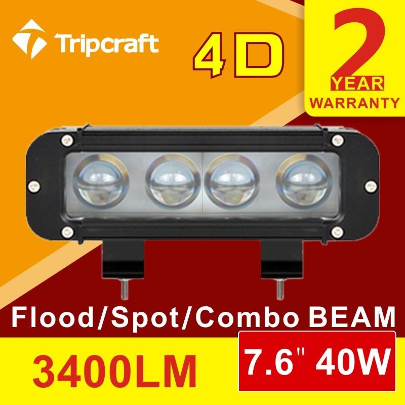 ФОТО 4D 40WLED light bar led Work Light Bar Spot Flood Combo Offroad SUV ATV UTV 4x4 4WD Light Bar Auto light 12/24V DC