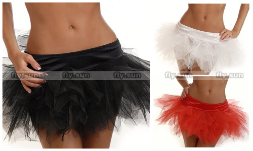 Black White Red Pettiskirt Mini Tutu Skirt Ballet Cotume Corset Accessories Petticoat S M L XL 2XL 3XL 4XL 5XL 6XL