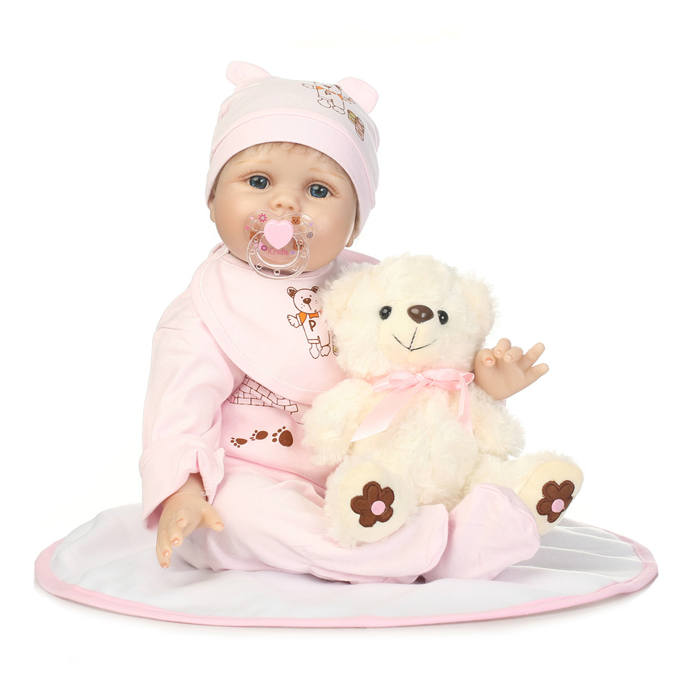 2255cm reborn silicone babies vinyl newborn girl toddlers Real touch collectible dolls stuffed boneca kids lovely birthday toys2255cm reborn silicone babies vinyl newborn girl toddlers Real touch collectible dolls stuffed boneca kids lovely birthday toys