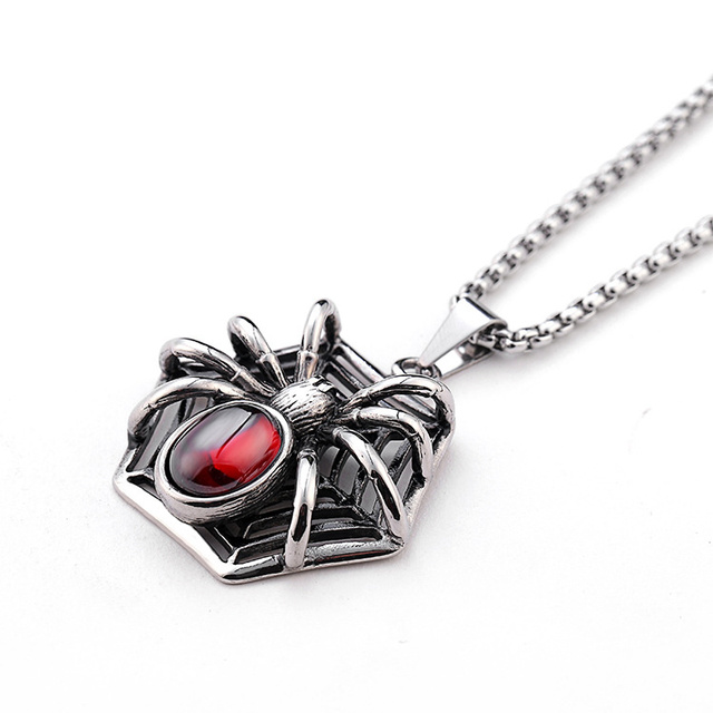 Never fade 316 stainless steel men spider web necklace jewelry man never fade 316 stainless steel men spider web necklace jewelry man charm pendant necklace for male aloadofball Images
