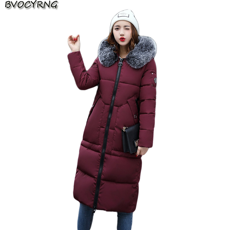 2017 Women High Quality Down Jacket Cotton Jacket Coat New Winter Fashion Hooded Thicken Warm Long Female Slim Outerwear Q795 high quality thick warm wind down jacket female fashion casual cotton coat women winter coat jacket warm long outerwear overwear