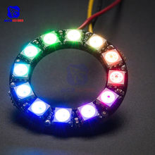 diymore 12 Bits RGB LED Ring WS2812 WS2812B 5050 RGB LED Spot Integrated Driver Control Serial Module for Arduino(China)