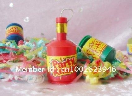 ¡¡Envío gratis!! Party popper, confeti / streamer, 5.5 * 2.5cm, - Para fiestas y celebraciones